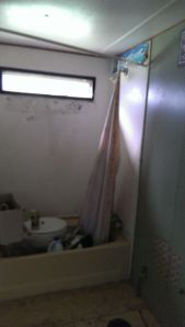 The bathroom, before moving in.